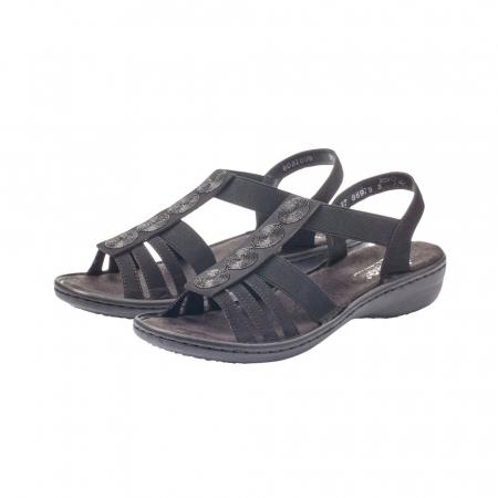 Sandale dama casual, piele ecologica, RIK 60870-006