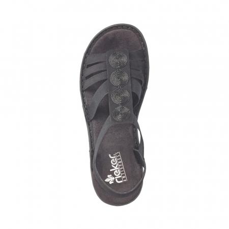 Sandale dama casual, piele ecologica, RIK 60870-001
