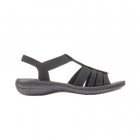 Sandale dama casual, piele ecologica, RIK 60870-003