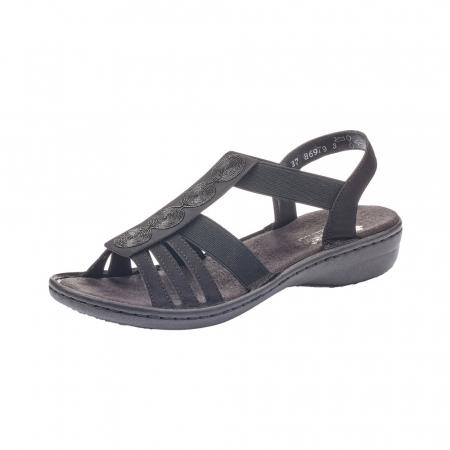Sandale dama casual, piele ecologica, RIK 60870-000