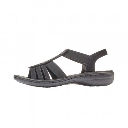 Sandale dama casual, piele ecologica, RIK 60870-005