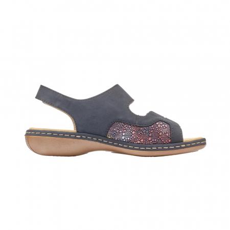 Sandale dama casual, piele ecologica, RIK 65989-146