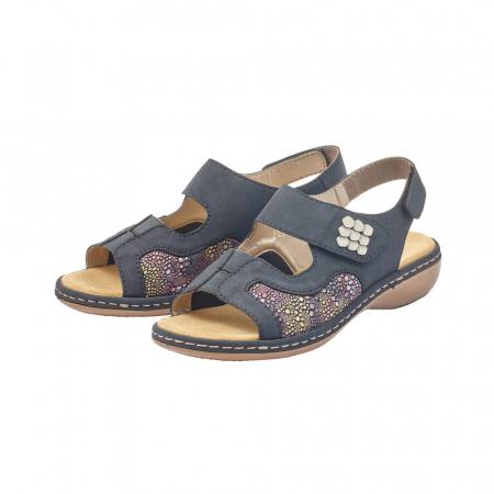 Sandale dama casual, piele ecologica, RIK 65989-143