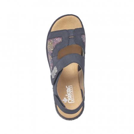 Sandale dama casual, piele ecologica, RIK 65989-141