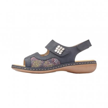 Sandale dama casual, piele ecologica, RIK 65989-145