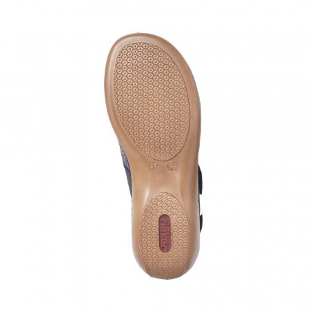 Sandale dama casual, piele ecologica, RIK 65989-142