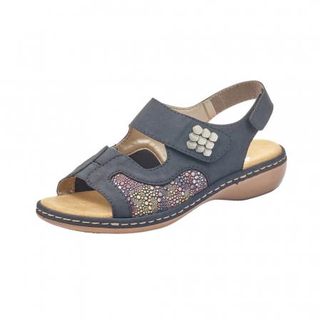Sandale dama casual, piele ecologica, RIK 65989-140