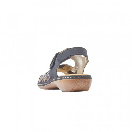 Sandale dama casual, piele ecologica, RIK 65989-144