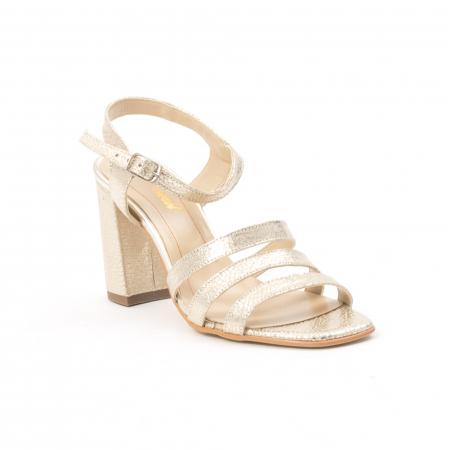Sandale dama elegante piele naturala, Nike Invest 1080, auriu0