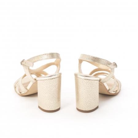 Sandale dama elegante piele naturala, Nike Invest 1080, auriu3