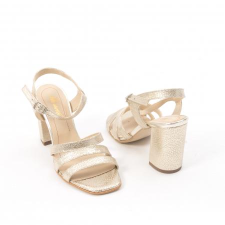 Sandale dama elegante piele naturala, Nike Invest 1080, auriu5