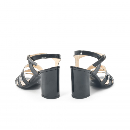 Sandale dama elegante, piele naturala, Nike Invest 1080, negru lac6