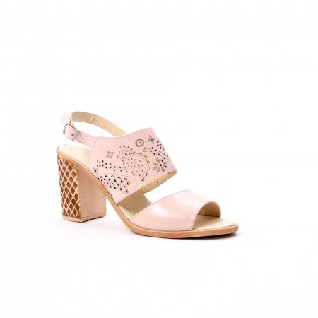 Sandale dama elegante, piele naturala, Nike Invest nk1094 B, nude [0]