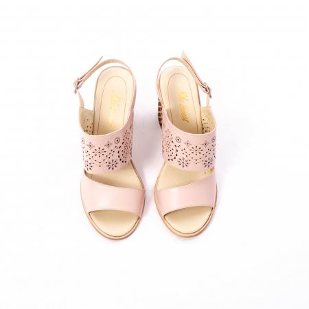 Sandale dama elegante, piele naturala, Nike Invest nk1094 B, nude [5]