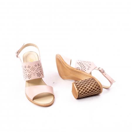 Sandale dama elegante, piele naturala, Nike Invest nk1094 B, nude [2]