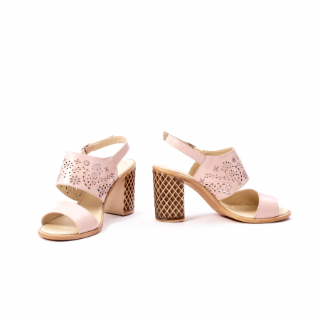 Sandale dama elegante, piele naturala, Nike Invest nk1094 B, nude [4]