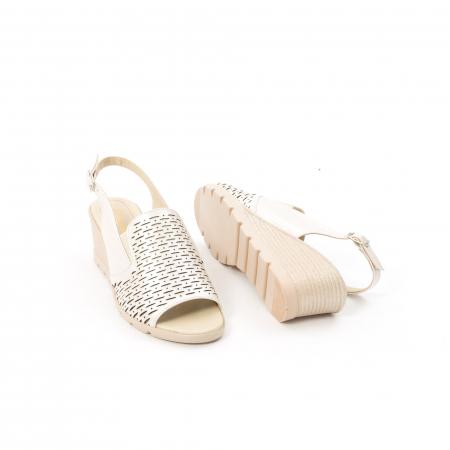 Sandale dama elegante piele naturala, Nike Invest 237B8, bej3