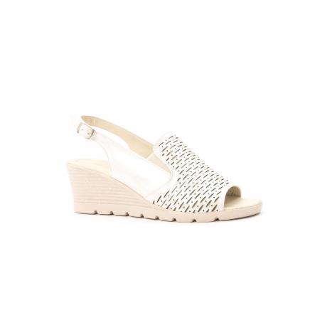 Sandale dama elegante piele naturala, Nike Invest 237B8, bej0