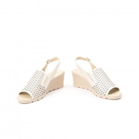 Sandale dama elegante piele naturala, Nike Invest 237B8, bej4