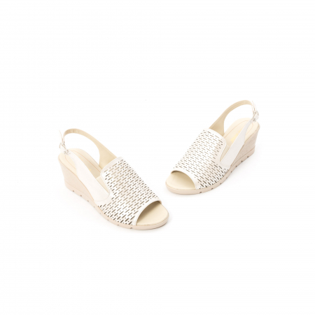 Sandale dama elegante piele naturala, Nike Invest 237B8, bej1