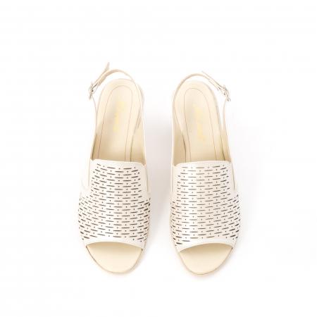Sandale dama elegante piele naturala, Nike Invest 237B8, bej5