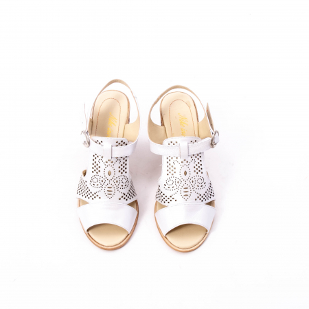 Sandale dama elegante, piele naturala, Nike Invest nk238, alb5