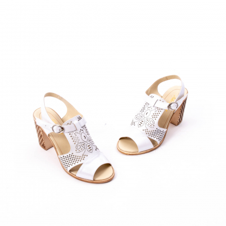 Sandale dama elegante, piele naturala, Nike Invest nk238, alb1