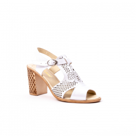 Sandale dama elegante, piele naturala, Nike Invest nk238, alb0