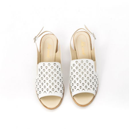 Sandale dama elegante piele naturala Nike Invest 253A, alb5