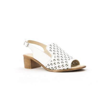 Sandale dama elegante piele naturala Nike Invest 253A, alb0