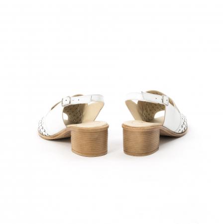 Sandale dama elegante piele naturala Nike Invest 253A, alb6