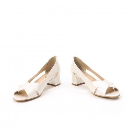 Decupati eleganti de   dama din piele naturala ,culoare alb sidef ,Nike Invest 254 B84