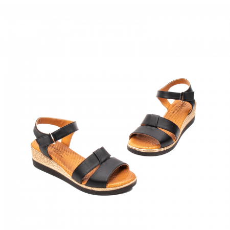 Sandale dama casual, piele naturala, D42007 N1