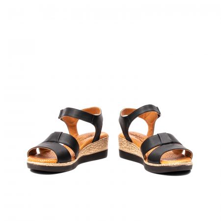Sandale dama casual, piele naturala, D42007 N4