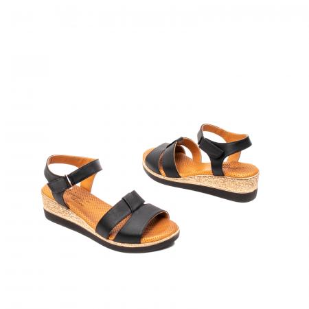 Sandale dama casual, piele naturala, D42007 N2