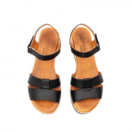 Sandale dama casual, piele naturala, D42007 N5
