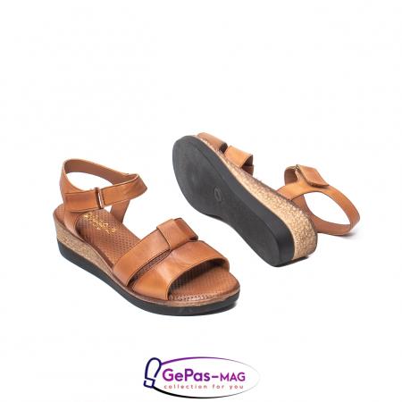 Sandale dama casual, piele naturala, D42007 C [3]