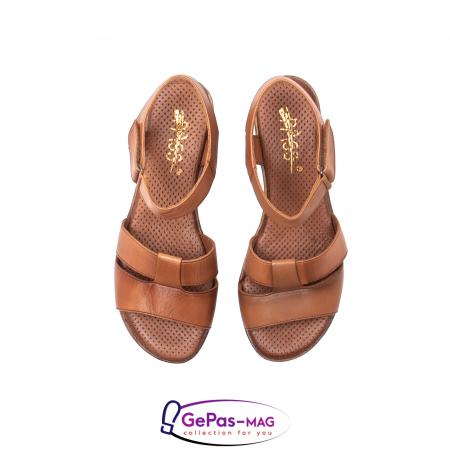 Sandale dama casual, piele naturala, D42007 C [5]
