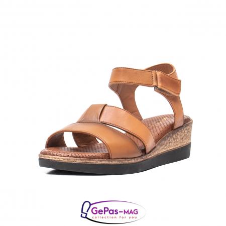 Sandale dama casual, piele naturala, D42007 C [0]