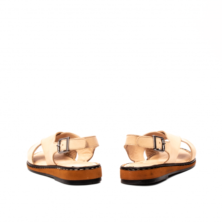 Sandale dama casual, piele naturala, E51203 B6