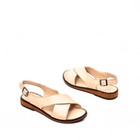 Sandale dama casual, piele naturala, E51203 B2