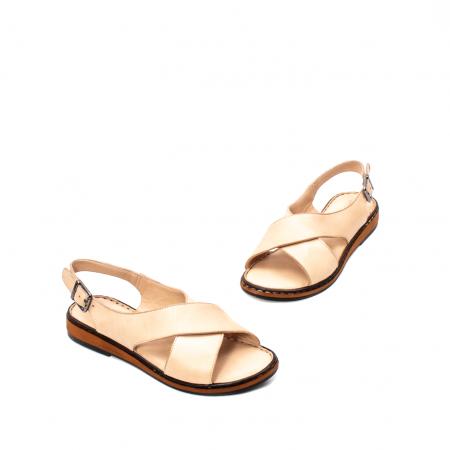 Sandale dama casual, piele naturala, E51203 B1