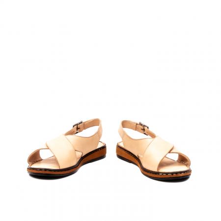 Sandale dama casual, piele naturala, E51203 B4