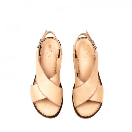 Sandale dama casual, piele naturala, E51203 B5
