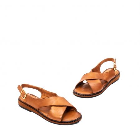 Sandale dama casual, piele naturala, E51203 C1
