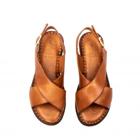 Sandale dama casual, piele naturala, E51203 C5