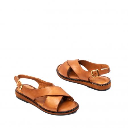 Sandale dama casual, piele naturala, E51203 C2