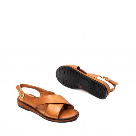 Sandale dama casual, piele naturala, E51203 C3