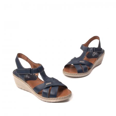 Sandale dama casual, piele naturala Lfx 214-bl1