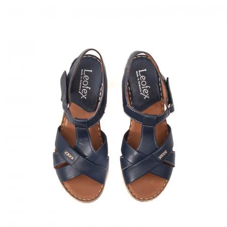 Sandale dama casual, piele naturala Lfx 214-bl5